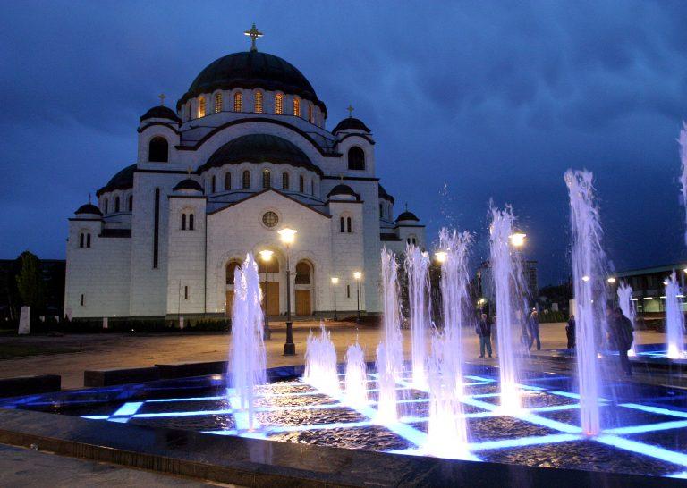 Hram Svetog Save, prikaz Beograda